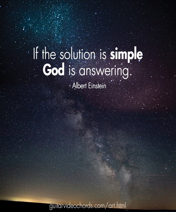 Albert Einstein if the solution simple god answering Encouraging Art Pictures, Images, Inspirational